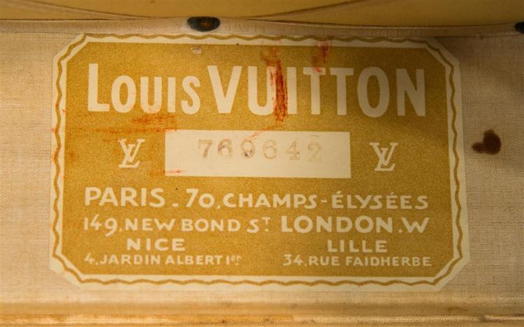 LOUIS VUITTON TRUNK; 36 x 20 x 13 in.