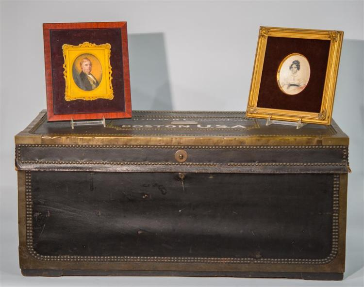 PORTRAIT MINIATURES OF CHARLES RUSSELL CODMAN AND ANNE CODMAN together with A TRUNK BELONGING TO CHARLES RUSSELL CODMAN CODMAN