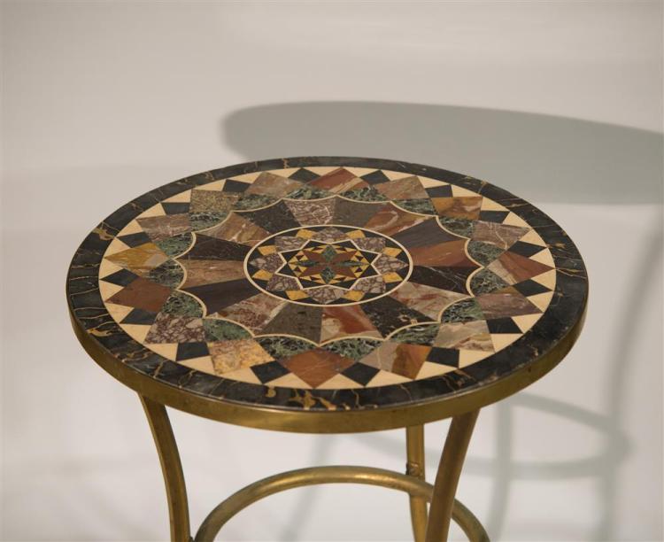 ITALIAN ROUND SPECIMEN MARBLE TABLE TOP, 19th century