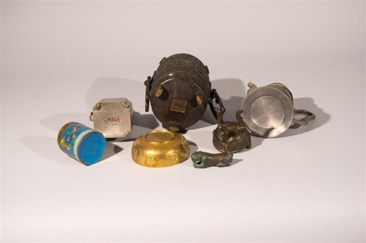 COLLECTION OF CHINESE METAL WARES