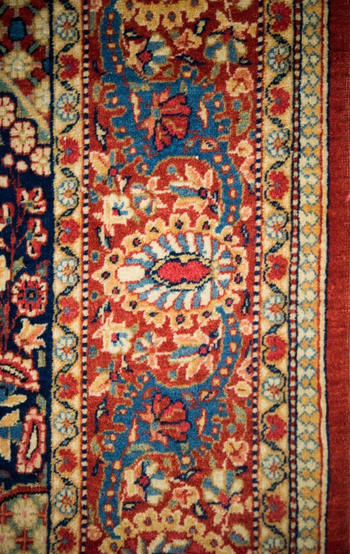 KASHAN MILLEFLEUR PRAYER RUG, Persia, ca. 1925; 7 ft. x 4 ft.