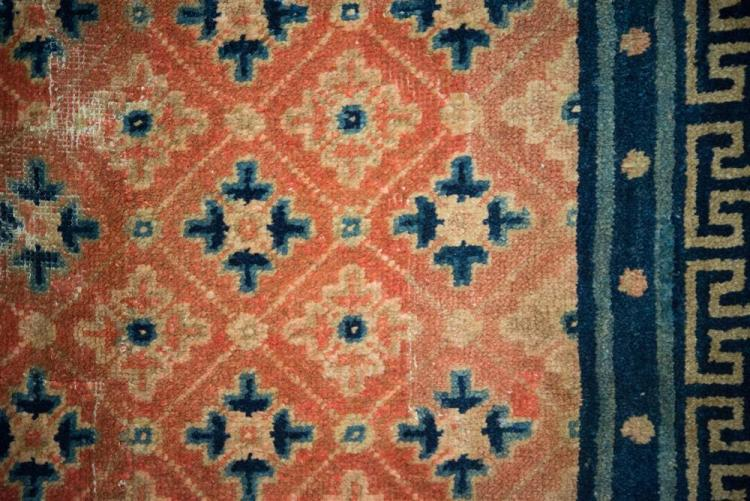 CHINESE RUG, late 19th century; 6 ft. 8 in. x 4 ft. 4 in.