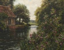 LOUIS ASTON KNIGHT POSTER French Sunset Landscape RARE