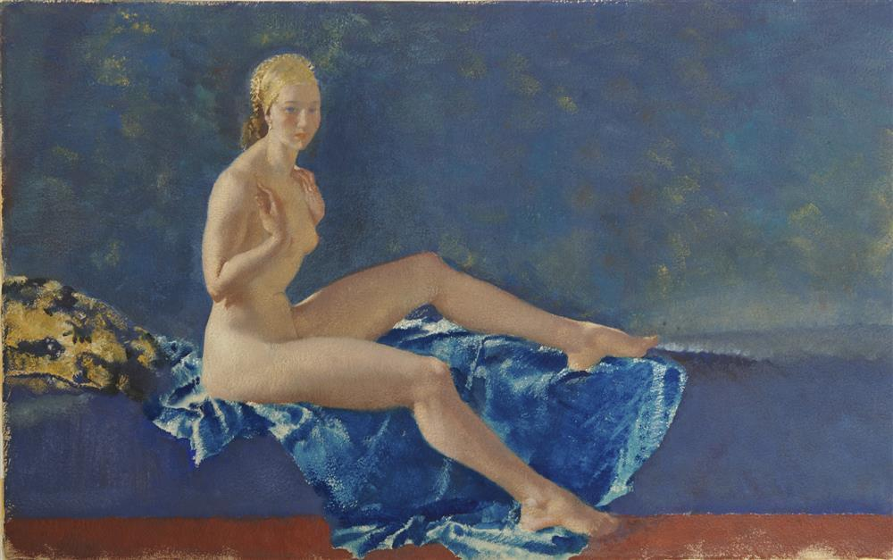 SIR WILLIAM RUSSELL FLINT, (Scottish, 1880-1969), Eustacia, tempera on watercolor paper, sheet: 17 x 27 in., frame: 27 x 37 in.