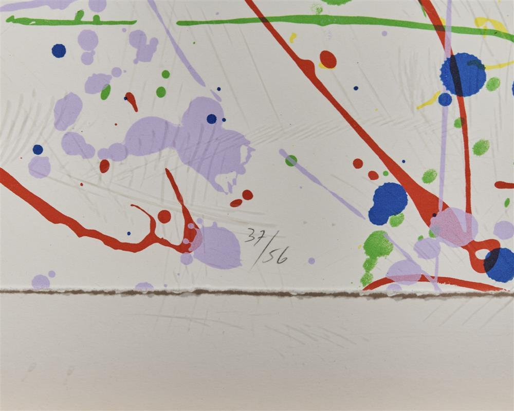 SAM LEWIS FRANCIS, (American, 1923-1994), Untitled (SF 291), 1986, screenprint in colors, sight: 84 x 60 in., frame: 65 1/2 x 89 1/2 in.