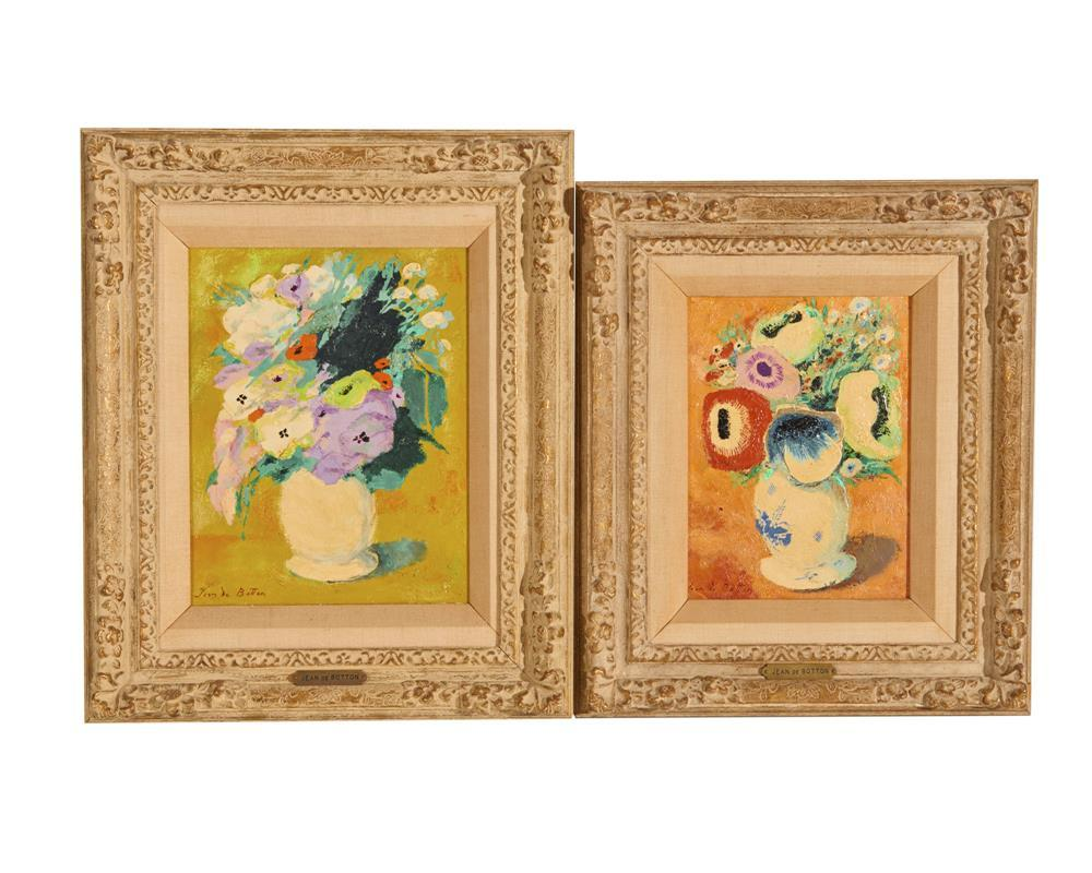 JEAN ISY de BOTTON, (French, 1898-1978), Pair of Floral Still Lives