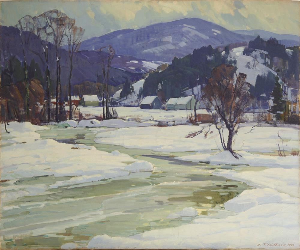 ALDRO THOMPSON HIBBARD, (American, 1886-1972), Winter View, 1935, oil on canvas, 25 x 30 in., frame: 29 x 34 in.