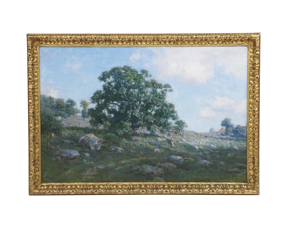 CHARLES H. DAVIS, (American, 1865-1933), The Great Oak, oil on canvas, 36 x 56 in., frame: 44 x 64 in.