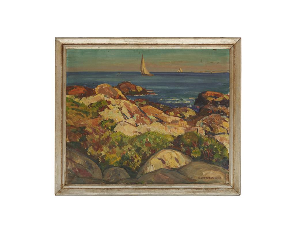 WILLIAM LESTER STEVENS, (American, 1888-1969), Coastal View, oil on canvas, 24 x 30 in., frame: 28 x 33 in.