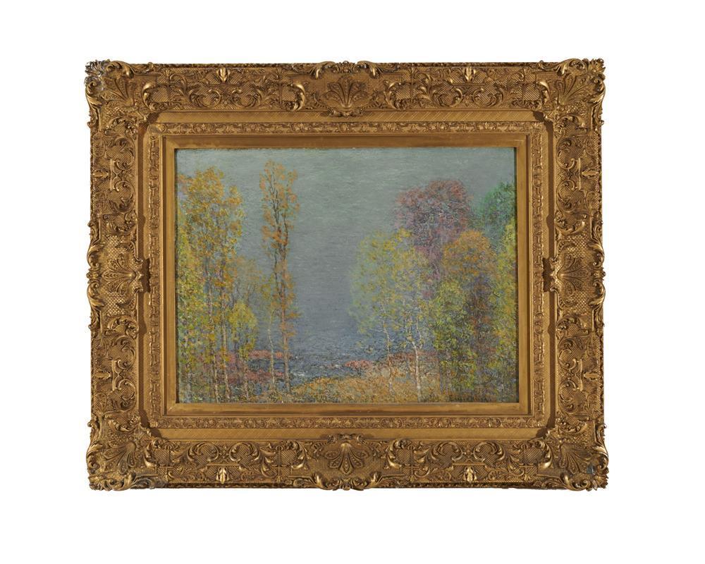 JOHN JOSEPH ENNEKING, (American, 1841-1916), Landscape, oil on canvas, 18 x 24 in., frame: 29 1/2 x 35 1/2 in.