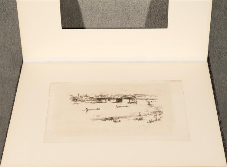 JAMES ABOTT MCNEILL WHISTLER, (American, 1834-1903), CHARING CROSS RAILWAY BRIDGE, 1896, lithograph, image: 5 1/8 x 8 1/2 in. (sheet...