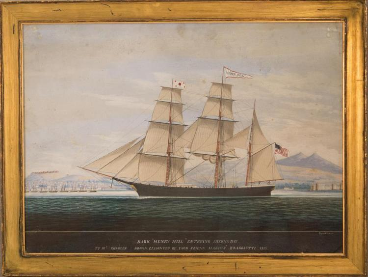 RAFFAELE CORSINI, (Italian, 1830-1880), AMERICAN BARK