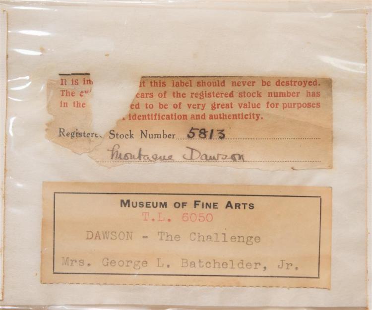 MONTAGUE DAWSON, (British, 1895-1973),