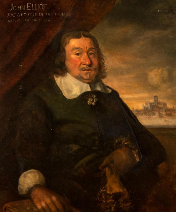 ENGLISH SCHOOL , (17th century), PORTRAIT OF JOHN ELLIOT, oil on canvas, 37 x 30 1/2 in. (41 1/2 x 35 in.)