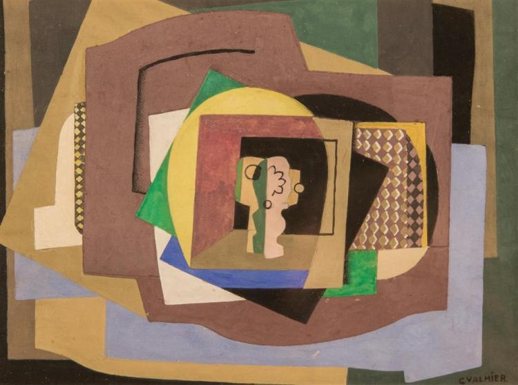 GEORGES VALMIER, (French, 1885-1937), STILL LIFE, gouache, sight: 5 1/2 x 7 1/2 in. (11 x 13 in.)