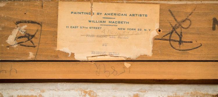 HERBERT MEYER, (American, 1882-1960), A PAWLETT FARM, oil on canvas, 25 x 30 1/4 in. (31 1/2 x 36 1/2 in.)