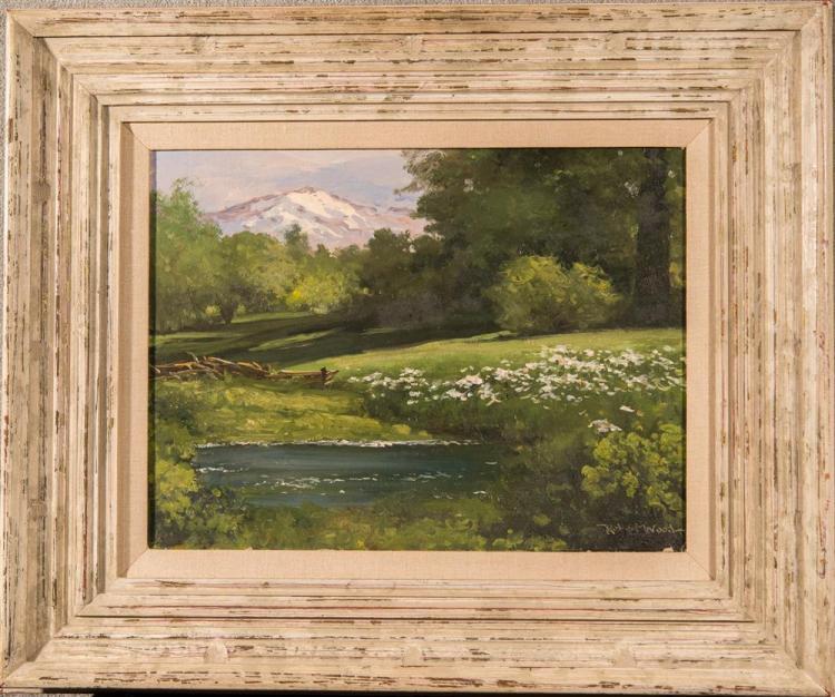 ROBERT WOOD, (American, 1889-1979), WILD IRIS LANDSCAPE, oil on canvas, 14 x 18 in. (20 x 24 in.)