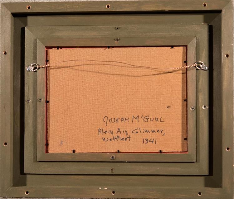 JOSEPH MCGURL, (American, b. 1958), PLEIN AIR, SUNLIGHT, CAPE COD, oil on panel, 9 x 12 in. (16 3/4 x 19 3/4 in.)