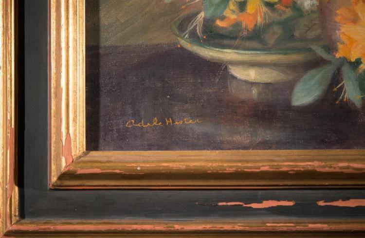 ADELE HERTER, (American, 1869-1946), AZALEAS, oil on canvas, 24 1/2 x 29 1/2 in. (32 x 36 1/2 in.)