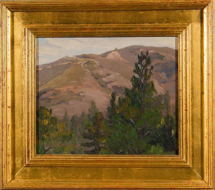 EMILE ALBERT GRUPPE, (American, 1896-1978), MOUNT MONADNOCK, oil on canvas, 10 1/4 x 12 in. (15 1/2 x 17 1/4 in.)