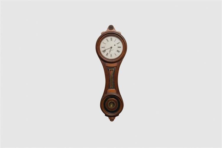 E. Howard & Co. No. 10 Walnut Figure Eight Wall Clock