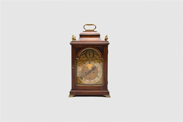 Early Georgian Mahogany Table Clock, James Chater, London, ca. 1770-1780
