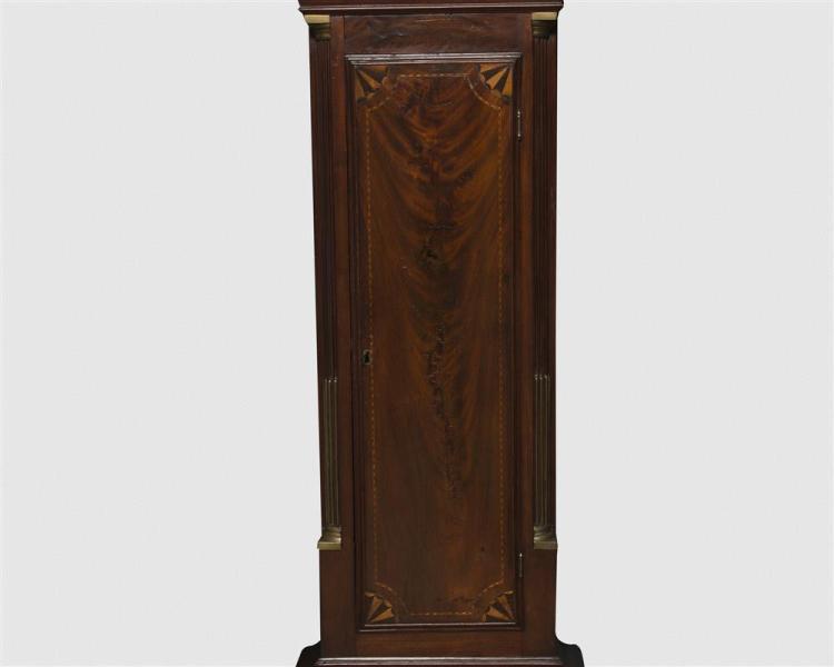 Rare Simon Willard Mahogany Inlaid Tall Case Clock