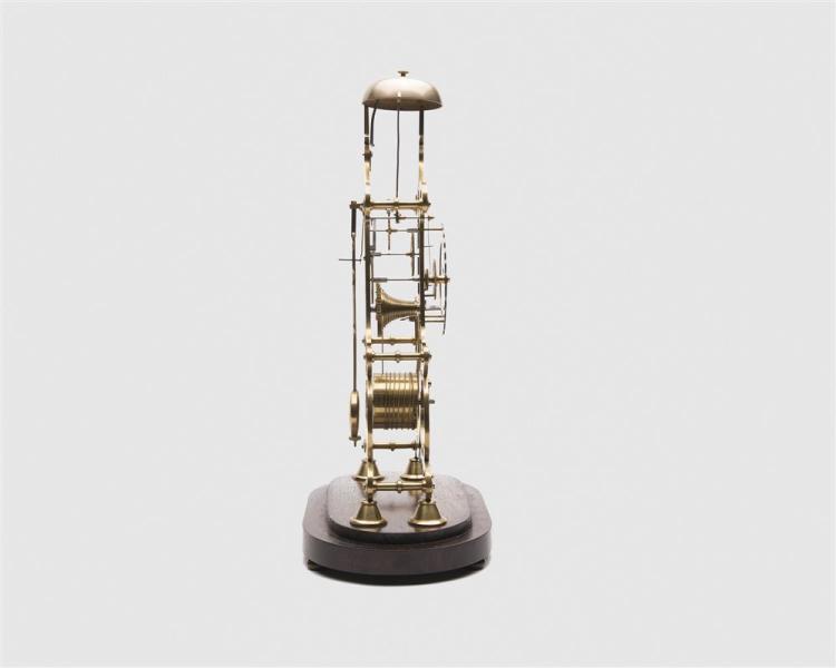 Brass Skeleton Clock