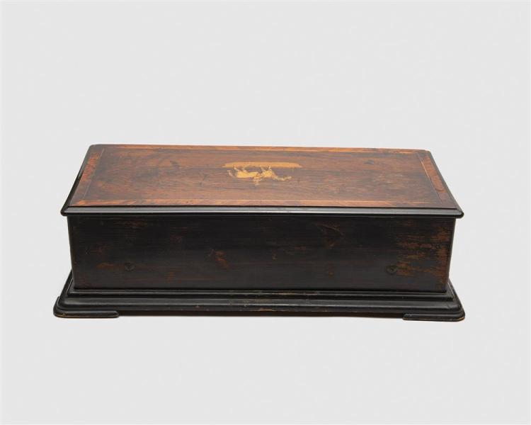 Swiss Rosewood Inlaid Eight Song 17 inch Cylinder Music Box