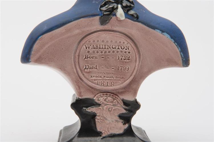 ENOCH WOOD BUST OF GEORGE WASHINGTON, England, 1818