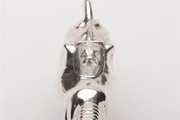 GERMAN SILVER COW-FORMED CREAMER