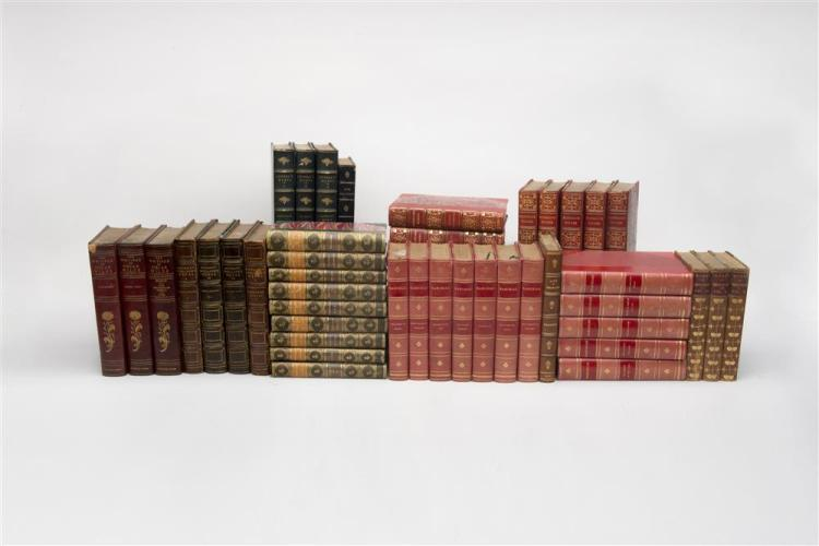 COLLECTION OF FIFTY NINE LEATHER-BOUND BOOKS