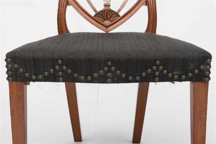 RARE PAIR OF FEDERAL CARVED MAHOGANY SIDE CHAIRS, attributed to Samuel McIntire, Salem, Massachusetts, ca. 1800