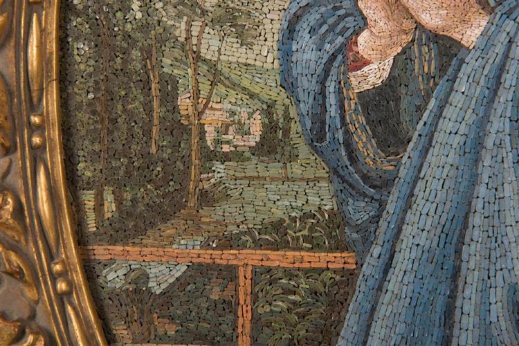 LORENZO CASSIO, (Italian, fl. 1874 - after 1925), MADONNA DEL LIPPI, micromosaic, 16 x 11 in.