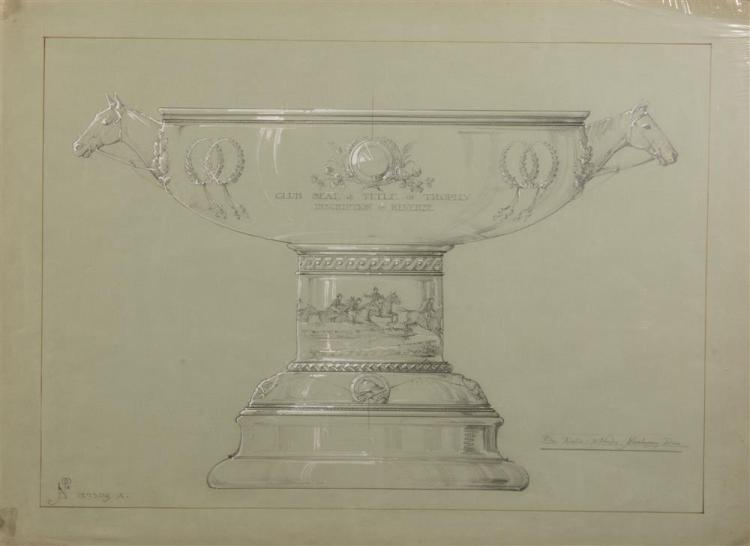 GROUP OF FOUR DESIGNS FOR SILVER TROPHIES