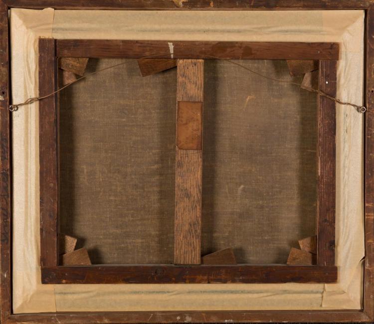 F. TAVILLA, (Italian, 19th century), BRIG CONFIDENCE AT MESSINA, oil on canvas, 18 x 22 in., frame: 23 x 27 in.