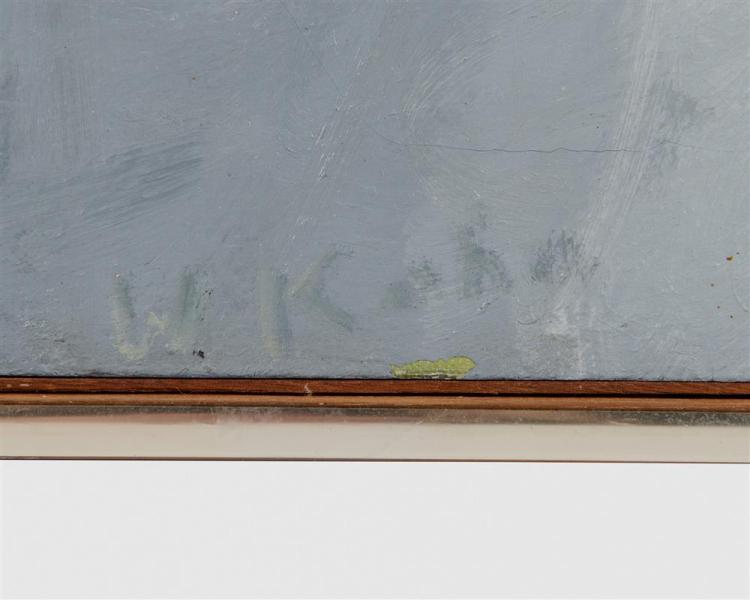 WOLF KAHN, (American, b. 1927), Maine Fog, 1966, oil on canvas, 24 x 24 in., frame: 25 x 25 in.