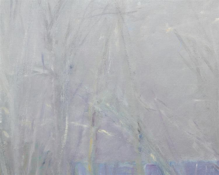 WOLF KAHN, (American, b. 1927), Early Spring in Northern New Jersey, 1969, oil on canvas, 50 x 50 in., frame: 51 1/2 x 51 1/2 in.