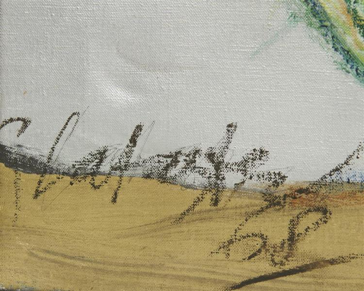 GER LATASTER, (Dutch, b. 1920), Peter Three Times, 1968, oil on canvas, 29 x 36 1/2 in., frame: 29 1/2 x 37 in.