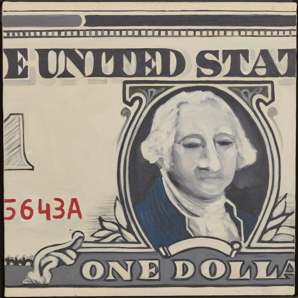 ROBERT DOWD, (American, 1936-1996), Silver Certificate, oil on canvas, 1963