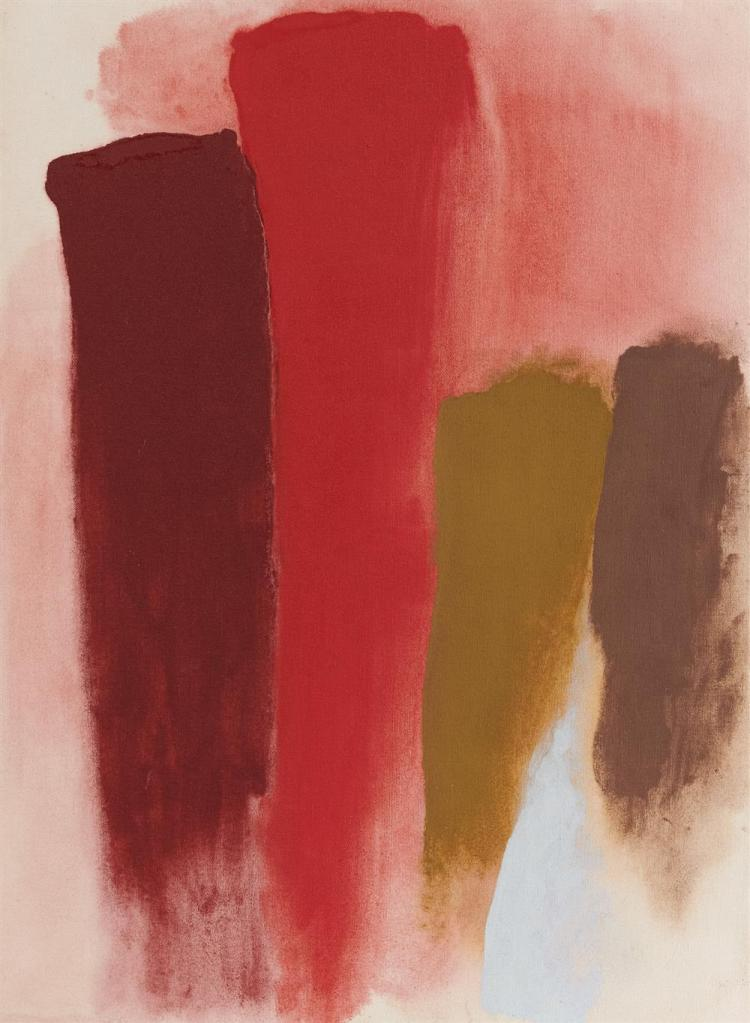 FRIEDEL DZUBAS, (American, 1915-1994), Untitled, 1973, acrylic on canvas, 30 x 22 in., frame: 31 x 23 in.