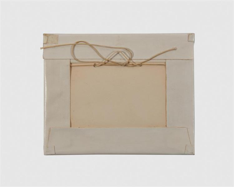 LYONEL FEININGER, (American/German, 1871-1956), Fünfmastiges Rahschiff (Five-Masted Square Rigger) [Prasse W306], woodcut, 1 3/8 x 2 7/8 in.; frame: 4 5/8 x 5 3/4 in.