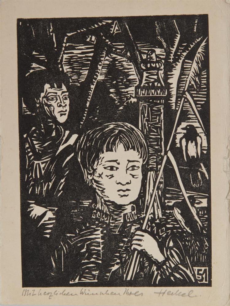 ERICH HECKEL, (German, 1883-1970), Eight