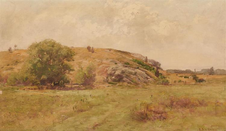 CHARLES EDWIN LEWIS GREEN, (American, 1844-1915), Landscape, oil on canvas, 14 x 24 in., frame: 23 x 33 in.