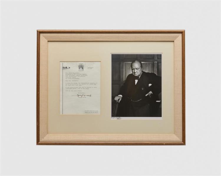 YOUSUF KARSH, (American, 1908-2002), Winston Churchill, silver print, 10 7/8 x 8 1/2 in.