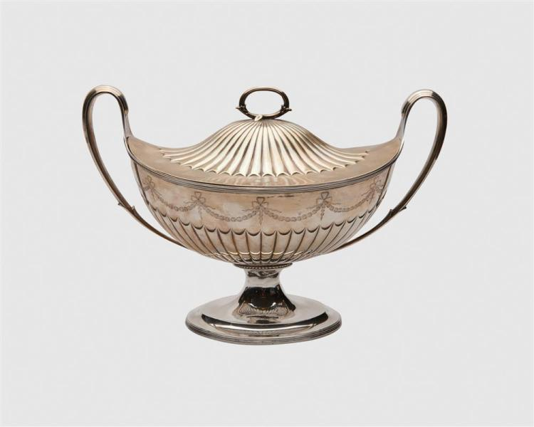 PAUL STORR George III Silver Tureen and Cover, London, 1801