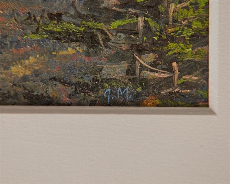 JOSEPH McGURL, (American, b. 1958), Acadia, oil on panel, 5 x 7 in., frame: 13 1/2 x 16 1/2 in.