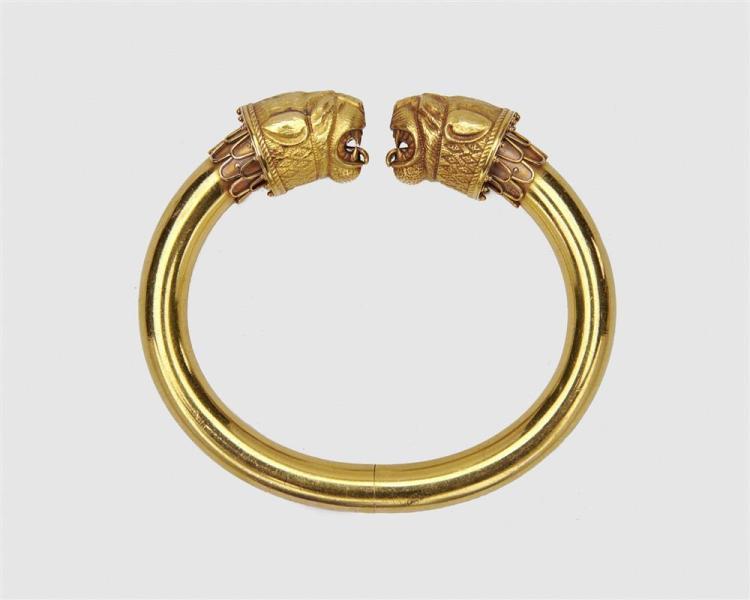 TIFFANY & CO. 18K Gold Bangle Bracelet