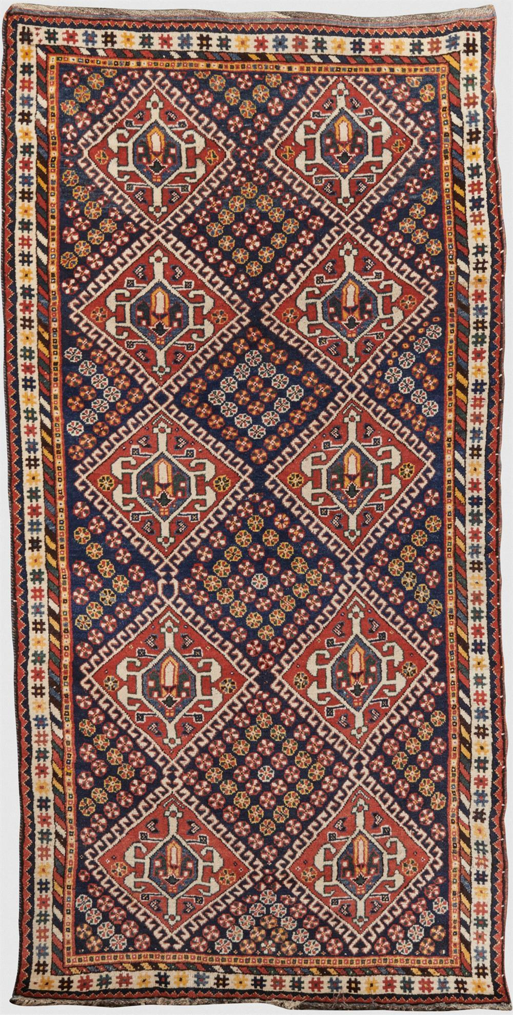 Luri Rug, Persia, late 19th century; 8 ft. 6 in. x 4 ft. 3 in.