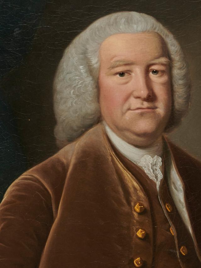 Manner of MASON CHAMBERLIN, JR., (English, 1727-1787), Portrait of a Gentleman, oil on canvas, 50 x 40 in., frame: 58 x 48 in.